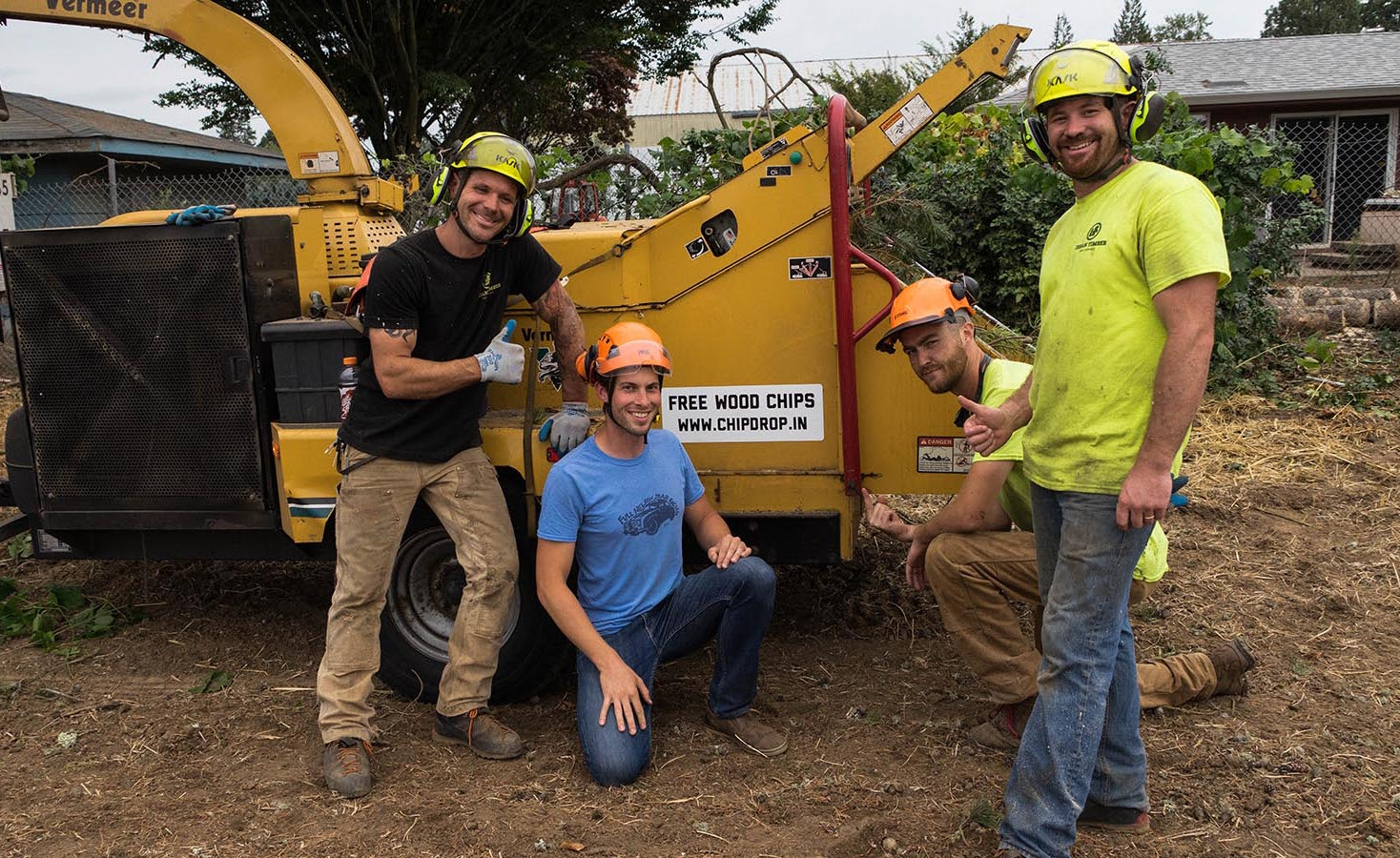 Founder Bryan Kappa with the crew from Urban Timber